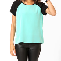 Relaxed Raglan Sleeve Top
