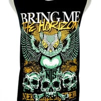 Bring Me the Horizon Owl Design Metal Rock Band Music Metal T Shirt Tank Top Singlet Vest Size M