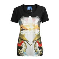 """Adidas"" Female Movement Trend Leisure Print Pattern Short sleeve T-Shirt"
