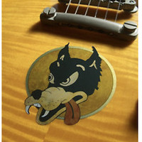 Jerry Garcia Grateful Dead / Wolf Sticker Decal For Guitar