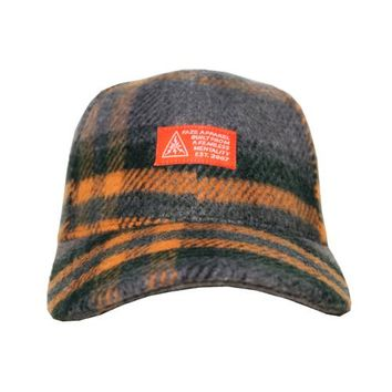 Noncompliant Classic Cap in grey, green, and light orange