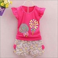 Toddler Kids Baby Girls Outfits Lolly Set