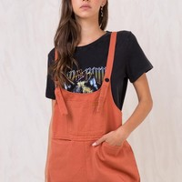 Rust Sloan Denim Overalls