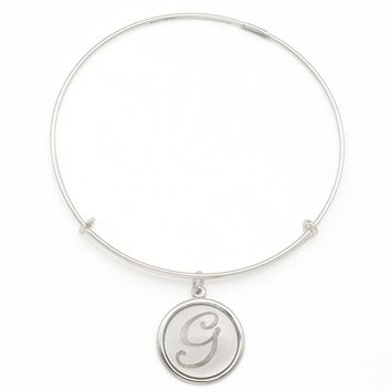 Alex and Ani Precious Initial G Charm Bangle - Argentium Silver