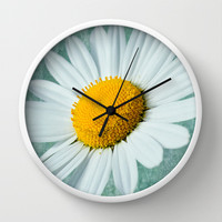 Daisy Head Wall Clock by Alice Gosling
