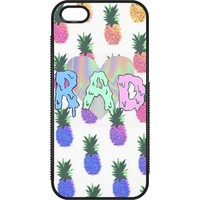 Pineapple Paradise: Custom Rubber iPhone 5 & 5S Case Black - Customized Girl
