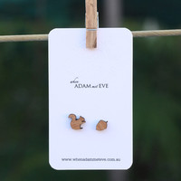 Squirrel & Acorn stud earrings