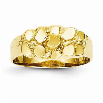 14k Yellow Gold Solid Nugget Ring