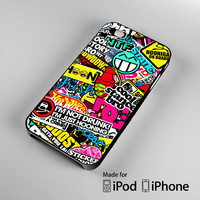 Hoonigan I'm Just Hooning Sticker Automotive A1021 iPhone 4S 5S 5C 6 6Plus, iPod 4 5, LG G2 G3, Sony Z2 Case