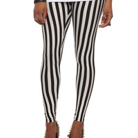 Black & White Stripe Leggings