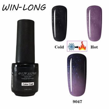 Change Color Gel Nail Polish Thermo Gel Mood Temperature Colors Gel Varnish Long Lasting Thermo Changing Gel 7ml