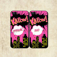 Best Friends Superhero Dynamic Duo iPhone Case  by mylittlecase