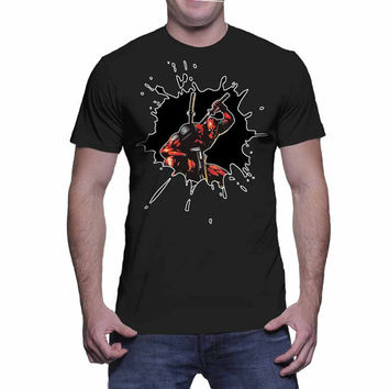 Deadpool Graphic Tee (mj-os-NL3600-deadpool1-mltclr)
