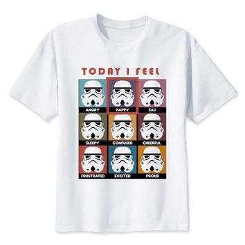 Star Wars Force Episode 1 2 3 4 5  t shirt Men funny darth vader T-Shirt  porg stormtrooper bb8 top Tee Clothes - tshirt AT_72_6