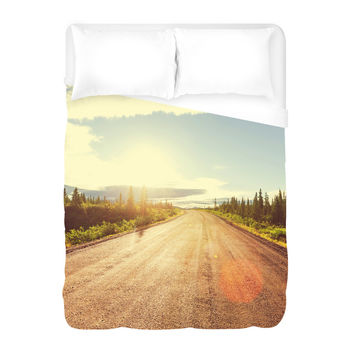 The Denali Highway Duvet Cover