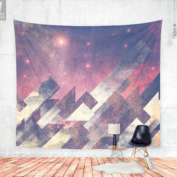 The stars are calling me Wall tapestry - Beautiful artistic wall decor artwork with abstract stars and night.