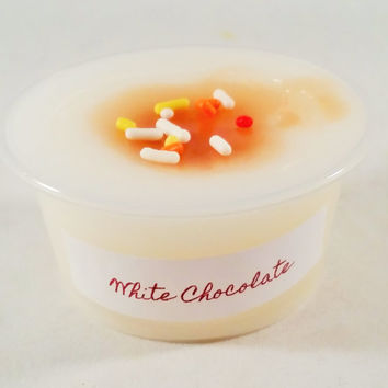 White Chocolate Scented Wax Melt - Scent Shot - Wax Cup - Paraffin Tart - Sweet Bakery Scent - Sweet Chocolate Scented Candle Melts
