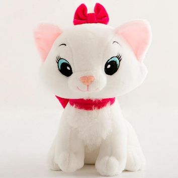 Kawaii Adventures Marie Cat 20-30cm Tie Cat Cute Plush Toy Soft Doll Stuffed PP Cutton Toys For Kids Gifts Good Quality