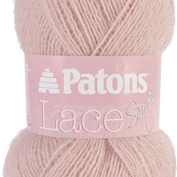 lace sequin yarn-pink diamond