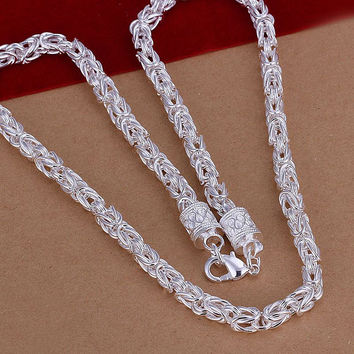silver plated Chain Dragonfly Chain Necklaces Pendants Men jewelry 48 MP