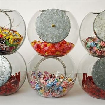 Stackable Glass Candy Jar (single)