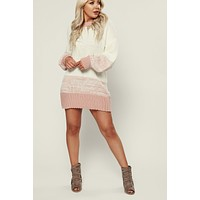 Satisfactory Sweater Dress (Pink)