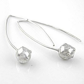 Canon Ball Pure FIne Silver Earrings - keja jewelry