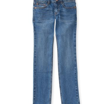 PS from Aero  Girls Medium Wash Core Skinny Jeans (Slim Fit)