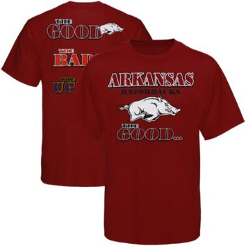 Arkansas Razorbacks Cardinal The Good The Bad The Ugly T-shirt