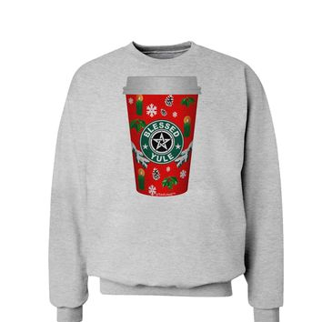 Blessed Yule Red Coffee Cup Sweatshirt by