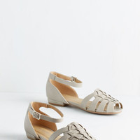 Walk the Dock Flat in Stone by ModCloth