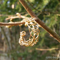 Viking Weave Ring in Gold Plated Copper