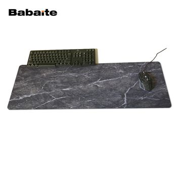 Babaite Black Marble Customized Rectangle Non-Slip Rubber 3D Printing Large Gaming Rubber Durable Notebook Mouse Pad