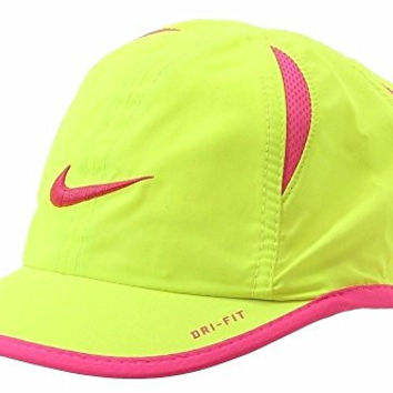 Nike Girl's Feather Light Volt Swish Logo Dri-Fit Baseball Cap Sz. 4/6X