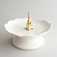 Golden Eiffel Tower Jewelry Tray