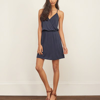 Drapey Wrap Front Dress