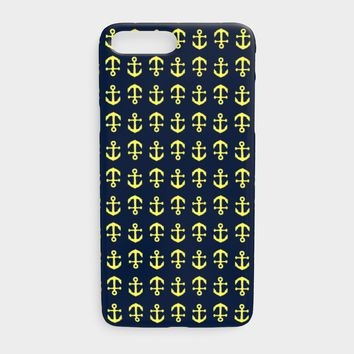 Anchor Toss Cell Phone Case iPhone 7Plus / 8Plus - Yellow on Navy