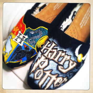 CUSTOM ORDER  Harry Potter HandPainted Shoes by StaceChase on Etsy