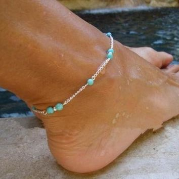 Bohemian Bead Chain Women Anklet Jewelry Fashion Beach Foot Jewelry