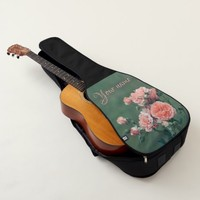 Beautiful pink roses. Add your text. Guitar Case