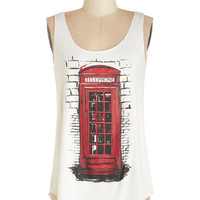ModCloth Travel Mid-length Tank top (2 thick straps) Communication Station Tank