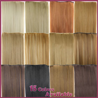 23inch 120g Straight Clip in False Hair Pad Synthetic Hair Styling 5 Clip in Hair Extension One Piece 613 Blonde Hair Piece