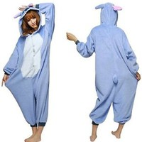 US Stitch Adult Unisex Pajamas Kigurumi Cosplay Costume Animal Onesuit Sleepwear