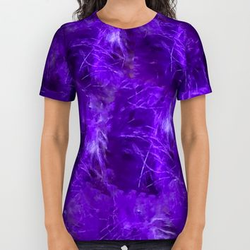 Purple Heart Feathers All Over Print Shirt by Deluxephotos