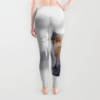 A Wilderness Within / Fox Leggings by Soaring Anchor Designs | Society6