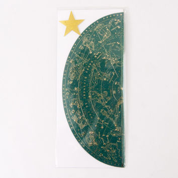 Zodiac Sky Birthday Greeting Card Teal
