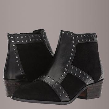 Matisse Sorento Studded Black Leather Booties