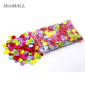 Hoomall 600PCs Mixed Acrylic Buttons 2 Holes Scrapbooking 9mm Sewing Buttons For Shirt Clothes Sewing Accessories