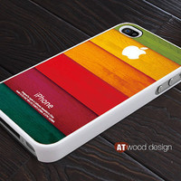 iphone case colorized wood texture Iphone Logo design printing iphone 4s case iphone 4 cover white iphone case