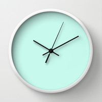 Sea Green Wall Clock by Color Project